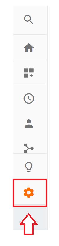 Googleアナリティクスの「設定」