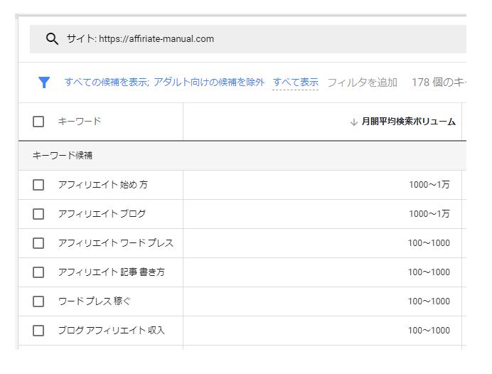ライバルサイトで検索されているキーワード候補を取得する方法